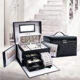 PU首飾盒飾品盒首飾包裝盒 耳釘項鍊戒指收納盒