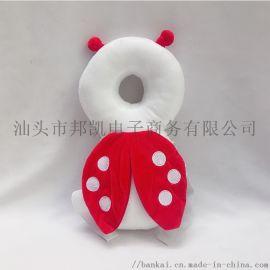 儿童蜜蜂天使护头枕护头护背护颈透气款