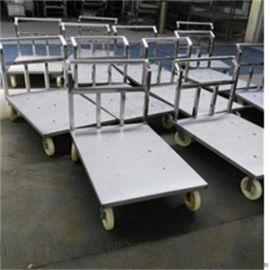 不锈钢手推车 平板车 博泓产滚揉机配套专用车