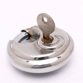 铜材质镀铜镀镍不锈钢光盘挂锁门锁自行车锁厂家