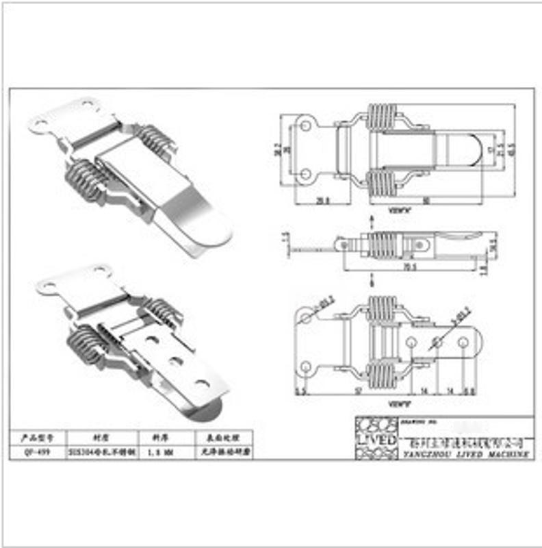 l供应高品质、高质量的不锈钢搭扣QF-609