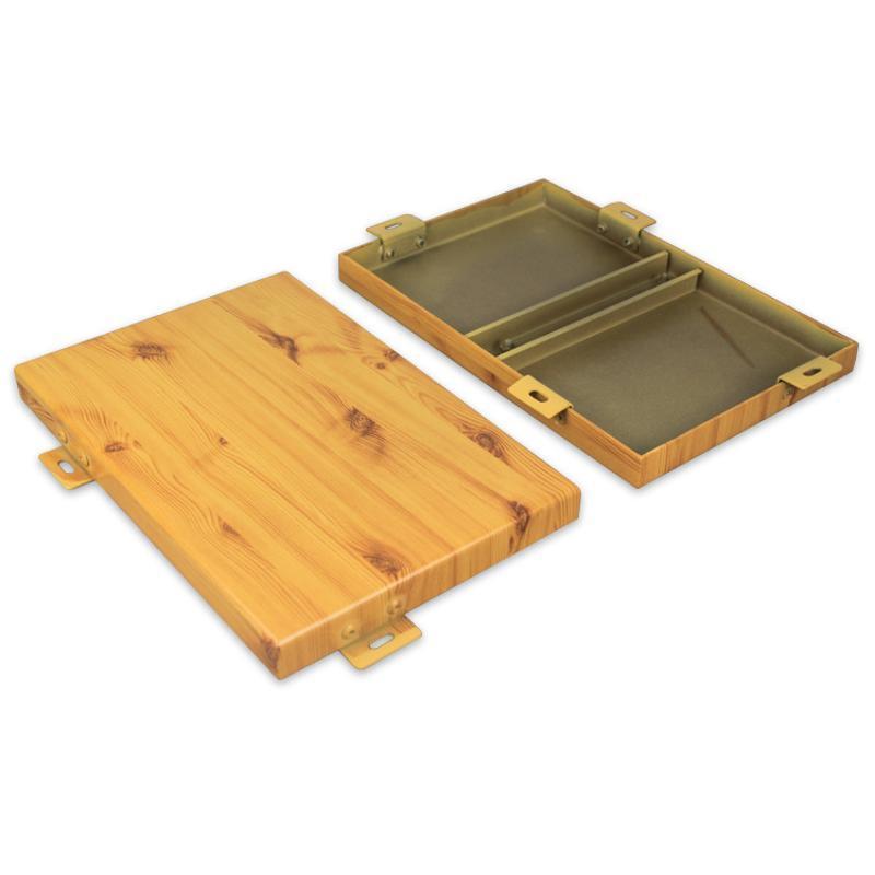 衝孔鋁單板幕牆廠家直營規格定製粉末熱轉印木紋鋁單板