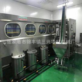 直销桶装水灌装机 3张家港-5加仑纯净水生产线全自动大桶灌装机
