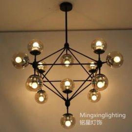 灯具厂家批发创意设计魔豆饭厅客厅艺术吊灯铭星灯饰