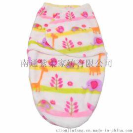紫柔批发单层抱被 婴儿睡袋 新生儿襁褓毯子 童睡袋 懒人包巾毯