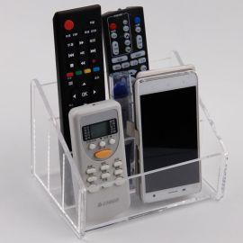 亚克力手机、遥控器收纳盒,透明桌面储物盒, 客厅茶几整理盒