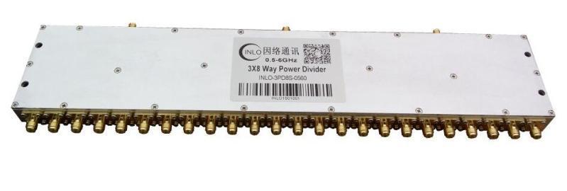 0.5-6GHz三體一分八功分器