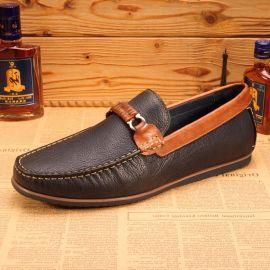 外贸鞋 真皮豆豆鞋 舒适驾车鞋 商务休闲男鞋