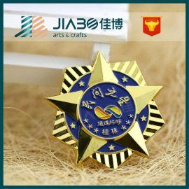 厂家供应 镀金徽章 金属浮雕徽章胸章 烤漆校徽纪念章来图定制