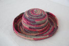 可折叠手钩进口拉菲草高品质草帽