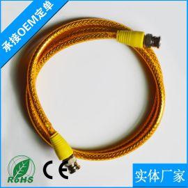 供应优质BNC跳线 纯铜bnc公对公监控视频连接线Q9头视频成品线