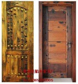 老船木大门实木房间门现代中式推拉门沉船木平移门仿古折叠门家具