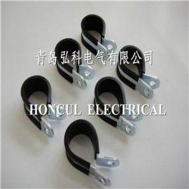 北京R型包胶固定夹,包胶线夹批发