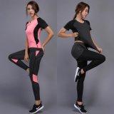 夏季新款修身速干短袖休闲跑步运动服女士套健身瑜伽服套装T恤