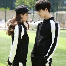 韩版秋冬男女学生加绒棒球服大码情侣装卫衣团体班服外套定制logo