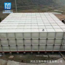玻璃钢模压拼接组装式水箱 方形保温生活用水箱