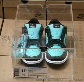 **透明鞋盒亚克力鞋盒鞋子包装盒天地盖盒