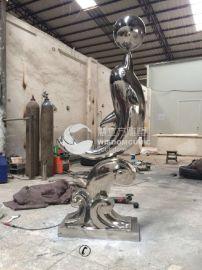 慧立方30  型不锈钢景观园林海豚雕塑制作