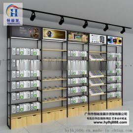名创货架系列铁木结合手机配件展示架
