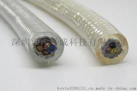电吸磁盘透明电缆 电永磁吊双护套  透明电缆 耐油耐寒耐压防踏