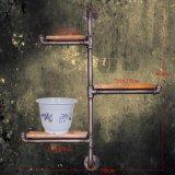 复古做旧工业水管铁艺实木壁架 仿古多层置物隔板墙上装饰壁架