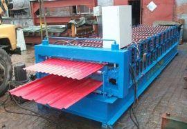 泊头全自动变频双层压瓦机彩钢瓦冷弯成型机(840/900)