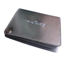 多卡位卡包 商務休閒旋轉卡夾 上海皮具工廠生產多卡位卡包定制