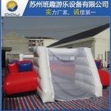 定製充氣水上足球場KT足球場移動足球門排球場水上樂園水池玩具