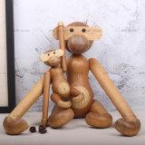 北欧丹麦柚木小号猴子擺件 木质工藝品