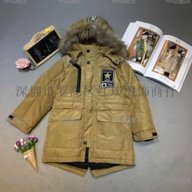 18新款韩版童小鸭之星冬装羽绒服一手货源折扣走份