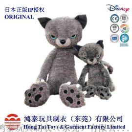 广州毛绒玩具定制厂米田民惠正版不爽猫毛绒填充精品猫
