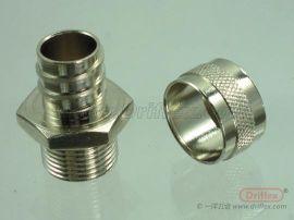 波浪软管专用铜接头   driflex     防水密封接头