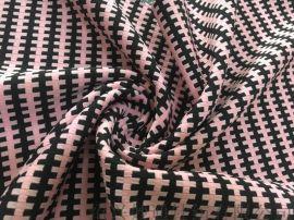 提花十字格针织面料 女装针织面料