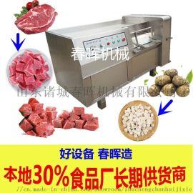 350型冻肉鲜肉切丁机 全自动果蔬切丁机