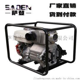 4寸汽油机泥浆泵 上海萨登汽油机泥浆泵