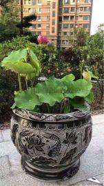 石雕鱼缸-花盆-石灯装饰-匠珂石业