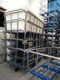 批发供应:染整厂用四轮纺织装布车,染色专用塑胶推布车,印染机械厂用大型推布车
