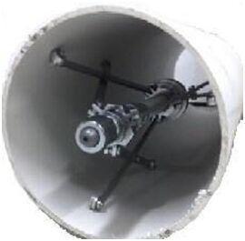 大管道内壁离心式旋转自动爬行器