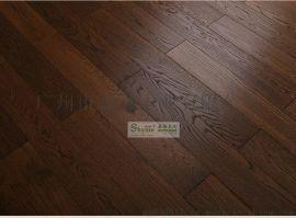 厂家直销 橡木 碳化 复古做旧 实木复合地板