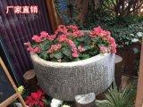 石雕厂家做旧仿古石花盆 方形花盆