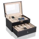 皮革双层手表盒眼镜展示盒手表礼品盒创意收纳