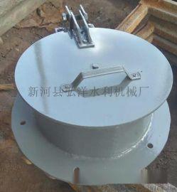 直径400DN400铸铁圆拍门浮箱拍门