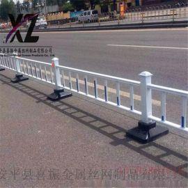 生产道路护栏@路中道路隔离栅栏@蓝白道路护栏厂家