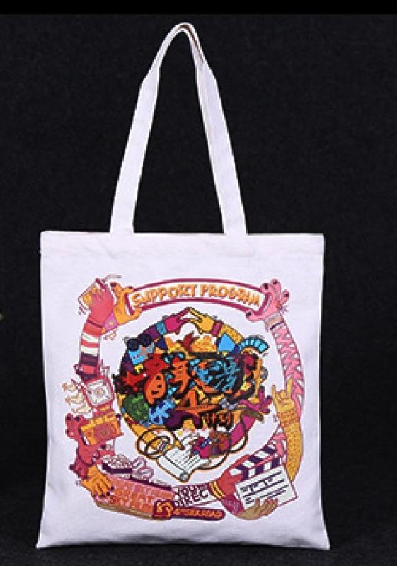 厂家定做创意卡通可爱帆布袋棉布袋可定制LOGO