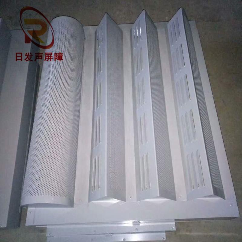 大量批發 高強度三角錐隔音屏障 大弧形吸聲屏障板 高速金屬屏障