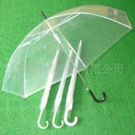 PVC POE透明伞 舞台表演用伞 带LOGO的透明雨伞