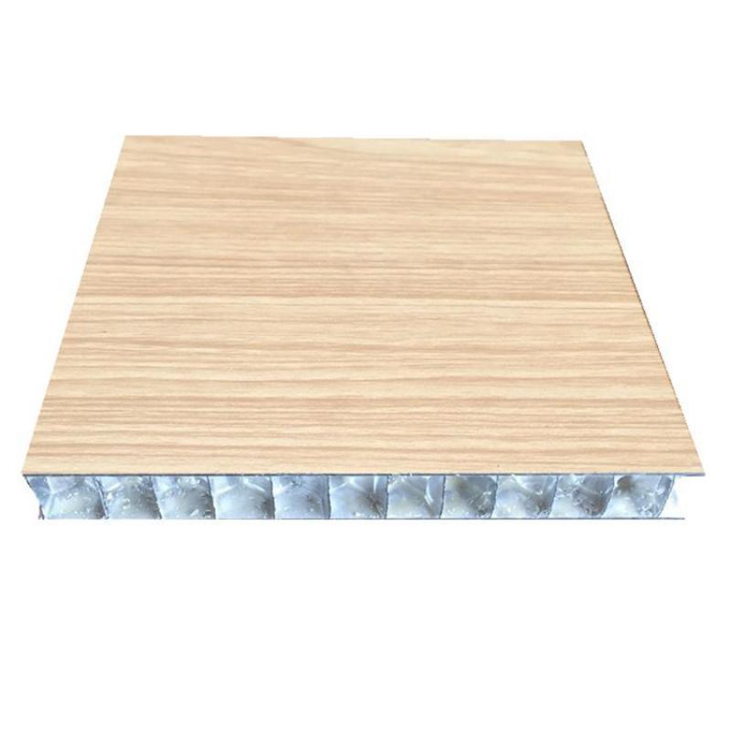 木紋鋁蜂窩板室內幕牆裝飾工程專用鋁蜂窩板隔音效果