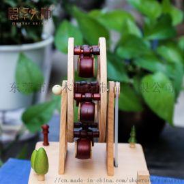 创意礼品摩天轮音乐盒木摆件实木音乐盒定制