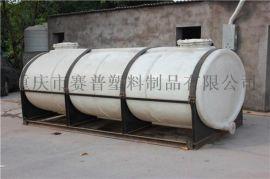 5吨卧式水箱,5吨卧式储水罐,PE卧式储罐