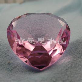 水晶心形钻石 家居摆设之用 可加LOGO文字